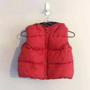 Baby GAP | Red Puffer Vest with Hood (6-12 months)